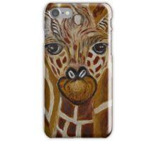Baby Giraffe, Momma and baby, nursery decor, home decor, wall art iPhone Case/Skin