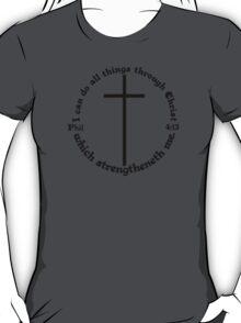 PHILIPPIANS 4:13 circular T-Shirt