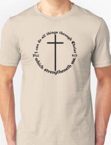 PHILIPPIANS 4:13 circular Unisex T-Shirt