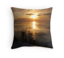 Lake Superior Reflections - Marathon Lagoon Throw Pillow