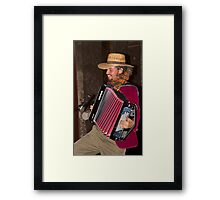 Argentinian Accordion Player Framed Print