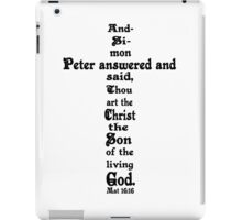 MATTHEW 16:16 cross iPad Case/Skin