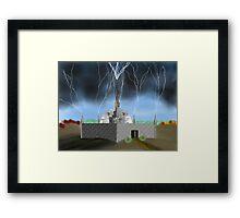 Lightning Repository - Renewable Energy?  Framed Print