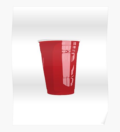 Red Cup Art Beer Pong Poster