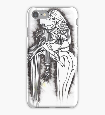 Jack the pumpkin king and Sally iPhone Case/Skin