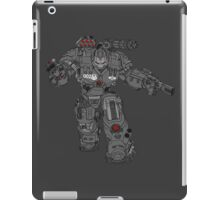 War Machine Tony Stark's Hulkbuster Suit Armour , Black outline with colour fill iPad Case/Skin