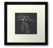 War Machine Tony Stark's Hulkbuster Suit Armour , Black outline with colour fill Framed Print