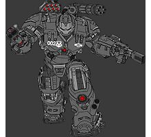 War Machine Tony Stark's Hulkbuster Suit Armour , Black outline with colour fill Photographic Print