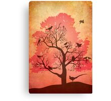 Tree of beaks Canvas Print