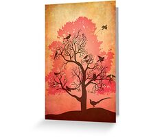 Tree of beaks Greeting Card