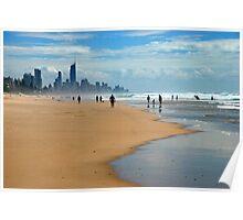 Surfers Paradise through the haze Poster