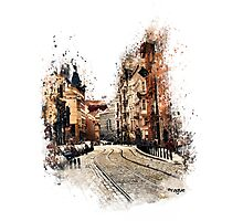 Prague street art Photographic Print