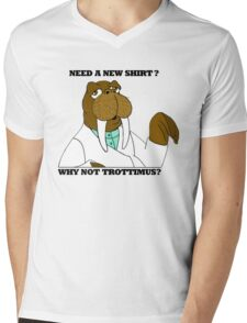 NEED A NEW SHIRT? WHY NOT TROTTIMUS? Mens V-Neck T-Shirt