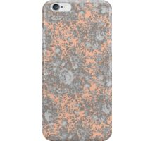 Vintage Coral Peach Flowers iPhone Case/Skin