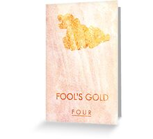"""Fool's Gold"" One Direction Greeting Card"