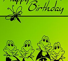 happy birthday frogs by 1001cards