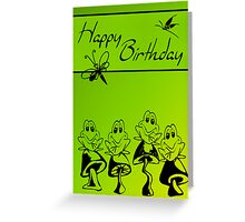 happy birthday frogs Greeting Card