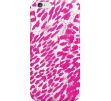 Modern Girly Pink and White Leopard Print Pattern iPhone Case/Skin