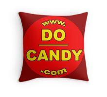 "Do Candy - ""Abuse Awareness via Art"" - Red/Yellow Logo Throw Pillow"