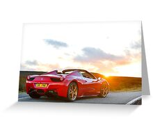 Ferrari 458 Spyder Greeting Card