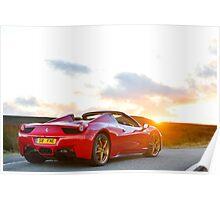 Ferrari 458 Spyder Poster