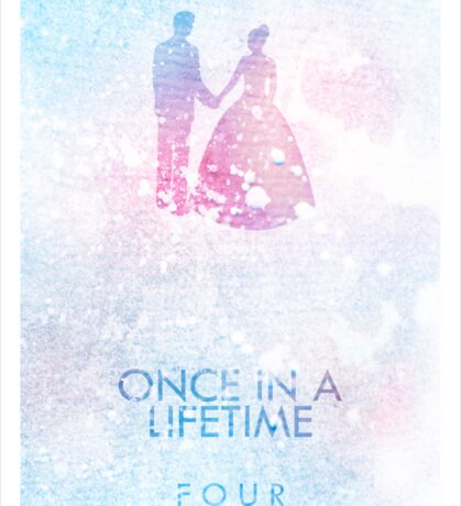 """Once In A Lifetime"" One Direction Sticker"
