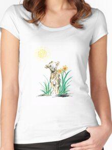 Joyful baby Lamb Women's Fitted Scoop T-Shirt