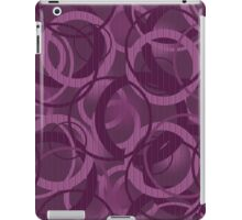 Seamless pattern with circles purple iPad Case/Skin