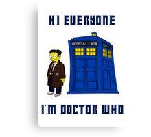 Doctor Nick III Canvas Print