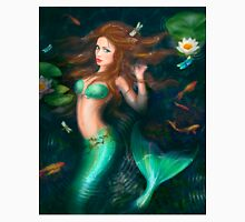 Beautiful Fantasy mermaid in lake with lilies Unisex T-Shirt
