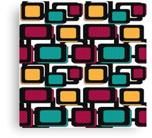Seamless pattern geometric elements Canvas Print