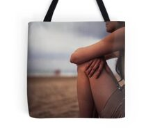 Young woman on beach medium format 6x6 Hasselblad analog portrait photo Tote Bag