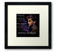 Doctor Who- Tenth Doctor Devid Tennant  Framed Print