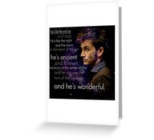 Doctor Who- Tenth Doctor Devid Tennant  Greeting Card