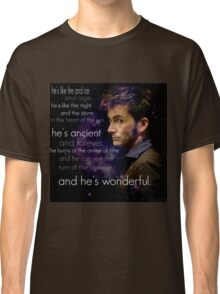 Doctor Who- Tenth Doctor Devid Tennant  Classic T-Shirt