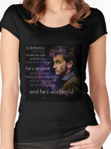 Doctor Who- Tenth Doctor Devid Tennant  Women's Fitted Scoop T-Shirt