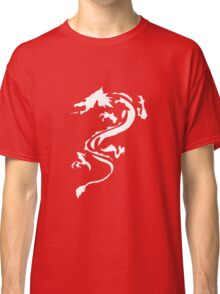 Classic White Dragon Silhouette Classic T-Shirt