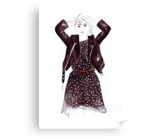 Polka Dot Dress Canvas Print