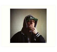 Hiphop rap singer medium format Hasselblad portrait photograph Art Print