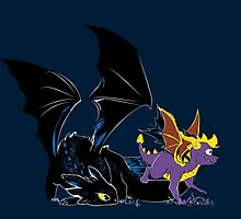 Spyro Toothless by blackList90