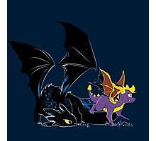 Spyro Toothless Photographic Print