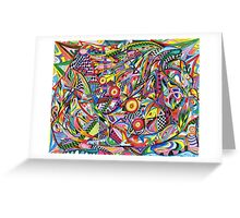 Checked Out and Optically Crazed Greeting Card