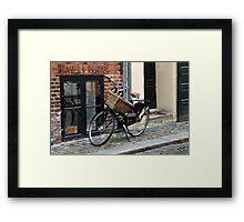 Black Bicycle with Big Basket Framed Print