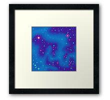 Indigo Nebula (8bit) Framed Print