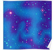 Indigo Nebula (8bit) Poster