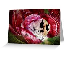 Requiem for a Tulip (Collaboration) Greeting Card