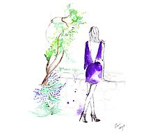 Daydreaming in Gaudi's Park Photographic Print