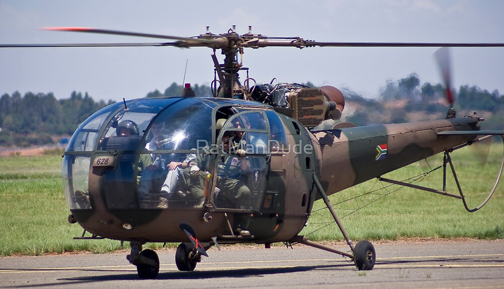 Sud Aviation SE-316B Alouette III Helicopter - SAAF 628 by RatManDude