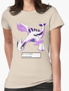 Wild Lugia Appeared! Womens Fitted T-Shirt