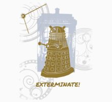 Dalek EXTERMINATE Fade Shirt by poetfaery